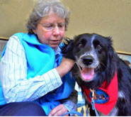 Sr. Mary SSND and Luke the Therapy Dog