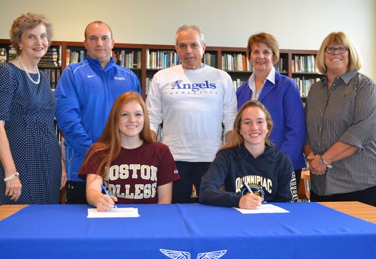 Paige Vignone and Mary Watters sign letters of intent