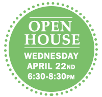 Open House Wednesday April 22