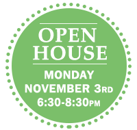 Open House Monday Nov 3