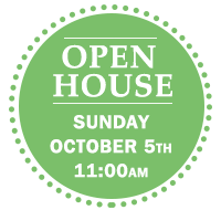 AHA Open House Sunday October 5 at 11am