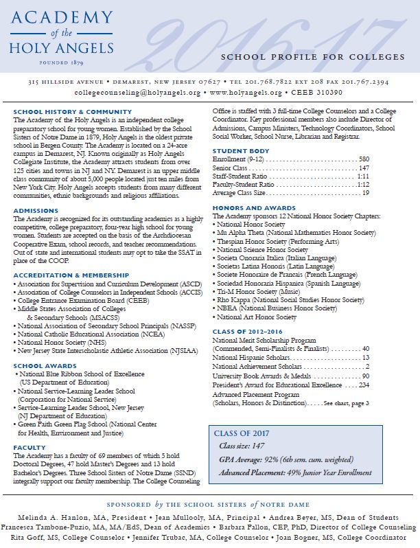 AHA School Profile 2014-2015